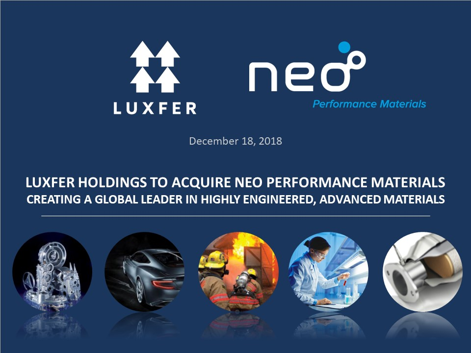 Luxfer Holdings to Acquire Neo Performance Materials - Luxfer Group
